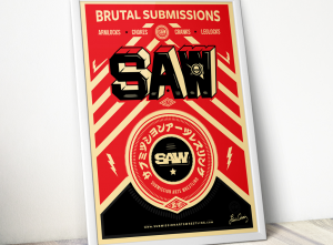 Submission Arts Wrestling (SAW) Poster by Luis Ciraiz